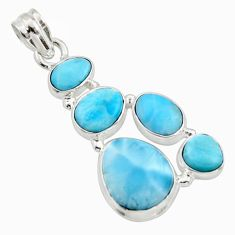 18.15cts natural blue larimar 925 sterling silver pendant jewelry r10022