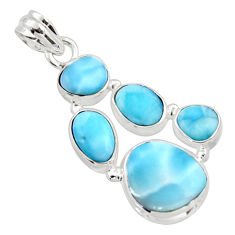 18.45cts natural blue larimar 925 sterling silver pendant jewelry r10024