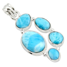 18.42cts natural blue larimar 925 sterling silver pendant jewelry r10028