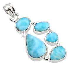 16.43cts natural blue larimar 925 sterling silver pendant jewelry r10031