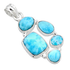 16.92cts natural blue larimar 925 sterling silver pendant jewelry r10040