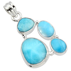 16.70cts natural blue larimar 925 sterling silver pendant jewelry r10050
