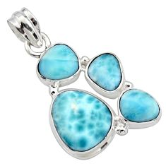 925 sterling silver 15.53cts natural blue larimar pendant jewelry r10058