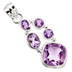 14.12cts natural pink amethyst 925 sterling silver pendant jewelry r10062