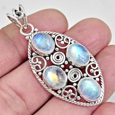 925 sterling silver 12.34cts natural rainbow moonstone pendant jewelry r10614