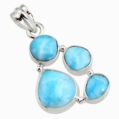 14.08cts natural blue larimar 925 sterling silver pendant jewelry r11293