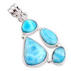 925 sterling silver 15.33cts natural blue larimar pendant jewelry r11300