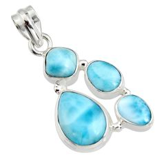 925 sterling silver 13.28cts natural blue larimar pendant jewelry r11316