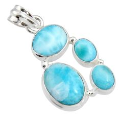 14.08cts natural blue larimar 925 sterling silver pendant jewelry r11317
