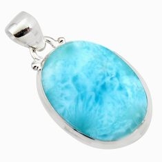 15.65cts natural blue larimar 925 sterling silver pendant jewelry r11761