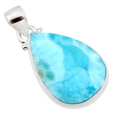 16.28cts natural blue larimar 925 sterling silver pendant jewelry r11767