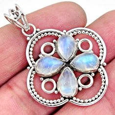8.65cts natural rainbow moonstone 925 sterling silver pendant jewelry r11863