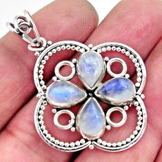 8.65cts natural rainbow moonstone 925 sterling silver pendant jewelry r11869