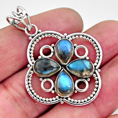 925 sterling silver 8.65cts natural blue labradorite pendant jewelry r11872