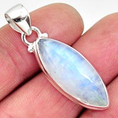 925 sterling silver 14.68cts natural rainbow moonstone pendant jewelry r12644
