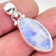 12.22cts natural rainbow moonstone 925 sterling silver pendant jewelry r12651