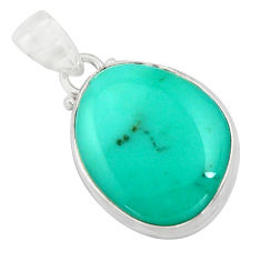 14.23cts natural green campitos turquoise 925 sterling silver pendant r12809