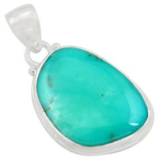 14.68cts natural green campitos turquoise 925 sterling silver pendant r12812