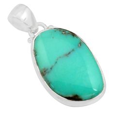 15.08cts natural green campitos turquoise 925 sterling silver pendant r12813