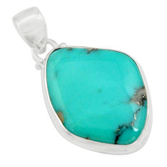 925 sterling silver 15.65cts natural green campitos turquoise pendant r12817