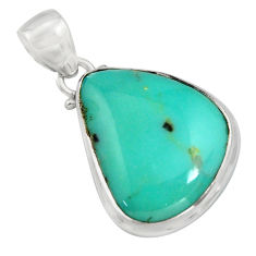 15.08cts natural green campitos turquoise 925 sterling silver pendant r12819