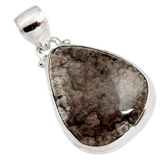 15.65cts natural brown agni manitite 925 sterling silver pendant jewelry r12845