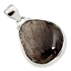 17.57cts natural brown agni manitite 925 sterling silver pendant jewelry r12846