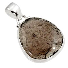 15.08cts natural brown agni manitite 925 sterling silver pendant jewelry r12851