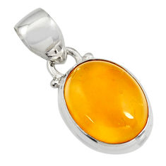 925 sterling silver 6.68cts natural yellow amber bone pendant jewelry r12900