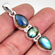12.83cts natural blue labradorite 925 sterling silver pendant jewelry r14581