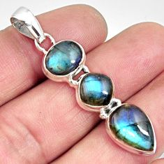 11.66cts natural blue labradorite 925 sterling silver pendant jewelry r14591