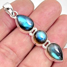 13.26cts natural blue labradorite 925 sterling silver pendant jewelry r14594