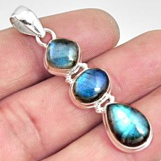 11.66cts natural blue labradorite 925 sterling silver pendant jewelry r14597