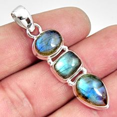 12.07cts natural blue labradorite 925 sterling silver pendant jewelry r14599