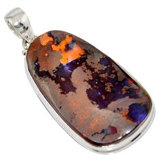 925 sterling silver 42.79cts natural brown boulder opal pendant jewelry r16004