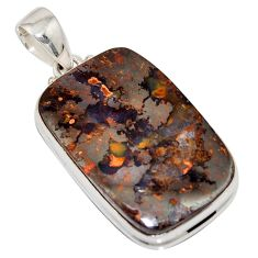 925 sterling silver 33.70cts natural brown boulder opal pendant jewelry r16028