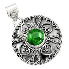 925 sterling silver 5.06cts natural green chrome diopside pendant jewelry r16291