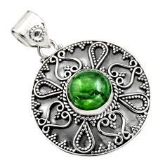 925 sterling silver 5.18cts natural green chrome diopside pendant jewelry r16295