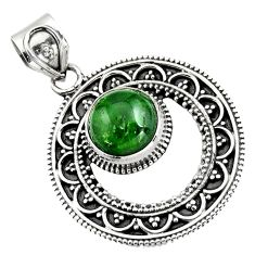 5.30cts natural green chrome diopside 925 sterling silver pendant jewelry r16298