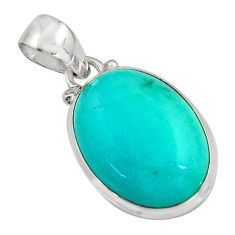 14.55cts natural green peruvian amazonite 925 sterling silver pendant r16500