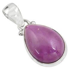 925 silver 12.22cts natural purple phosphosiderite (hope stone) pendant r16504