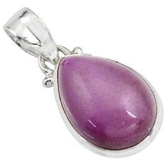 925 silver 11.70cts natural purple phosphosiderite (hope stone) pendant r16510