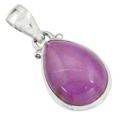 925 silver 11.17cts natural purple phosphosiderite (hope stone) pendant r16519
