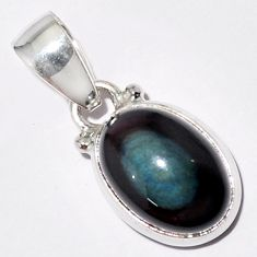 6.26cts natural rainbow obsidian eye 925 sterling silver pendant jewelry r16521