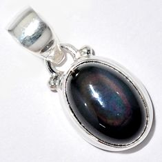 925 sterling silver 5.54cts natural rainbow obsidian eye pendant jewelry r16524