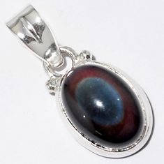 5.54cts natural rainbow obsidian eye 925 sterling silver pendant jewelry r16528