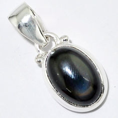 925 sterling silver 5.54cts natural rainbow obsidian eye pendant jewelry r16539