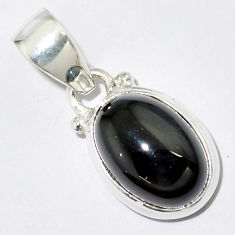 5.54cts natural rainbow obsidian eye 925 sterling silver pendant jewelry r16540