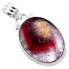 925 sterling silver 12.40cts natural cacoxenite goiás, brazil pendant r65927