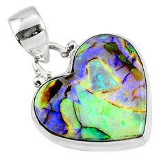 8.35cts multi color sterling opal 925 sterling silver pendant jewelry r70139
